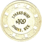 Sparks Mint $1 (white) chip - Spinettis Gaming - 1