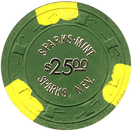 Sparks Mint $2.50 (green) chip - Spinettis Gaming - 1