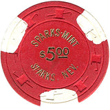 Sparks Mint $5 (red) chip - Spinettis Gaming - 2