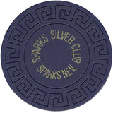 Silver Club (blue) chip - Spinettis Gaming - 1