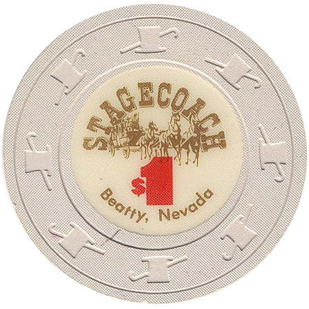 Stagecoach $1 (beige) chip - Spinettis Gaming - 1