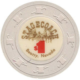 Stagecoach $1 (beige) chip - Spinettis Gaming - 2