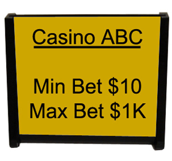 Casino Table Sign Holder