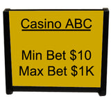 Casino Table Sign Holder - Spinettis Gaming - 1