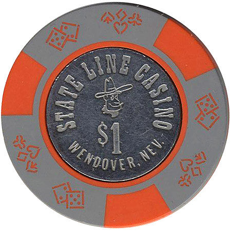 State Line Casino Wendover $1 (gray) chip
