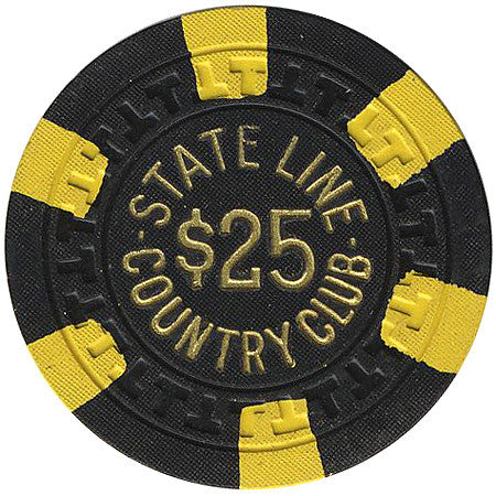 Stateline Country Club $25 (black) chip