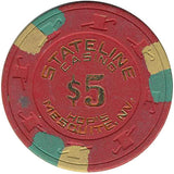 Stateline Casino $5 (red) chip - Spinettis Gaming - 1