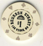 Bourbon Street Casino $1 (white 1990) Chip - Spinettis Gaming - 2