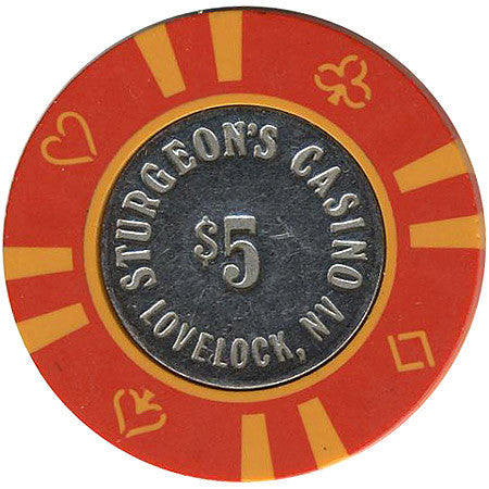 Sturgeon's Casino $5 (red) chip