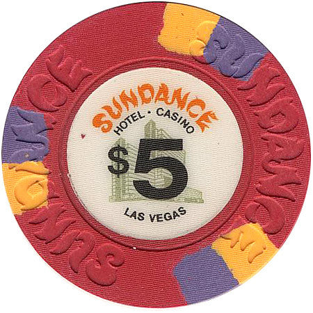 Sundance Casino Las Vegas $5 Chip 1980s Uncirculated