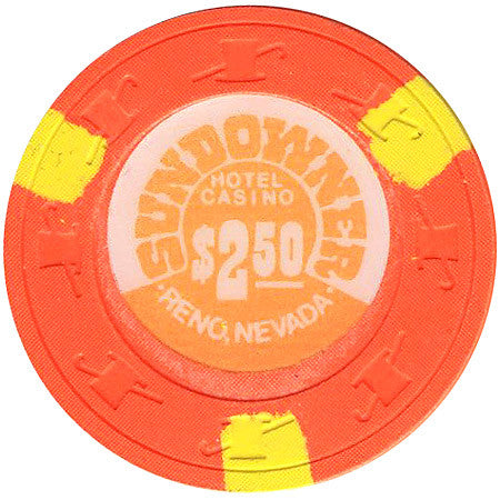 Sundowner Casino $2.50 (orange) chip