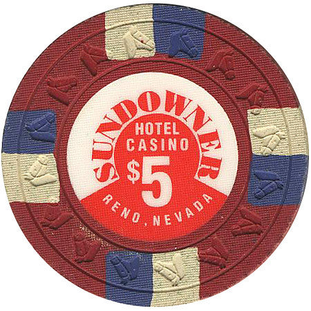 Sundowner Casino $5 (red) chip - Spinettis Gaming - 2