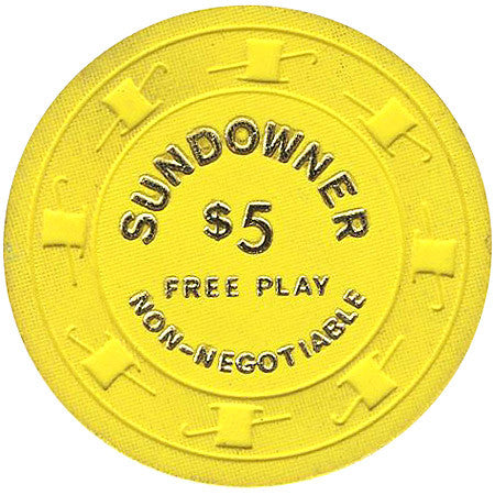 Sundowner Casino $5 (yellow) chip