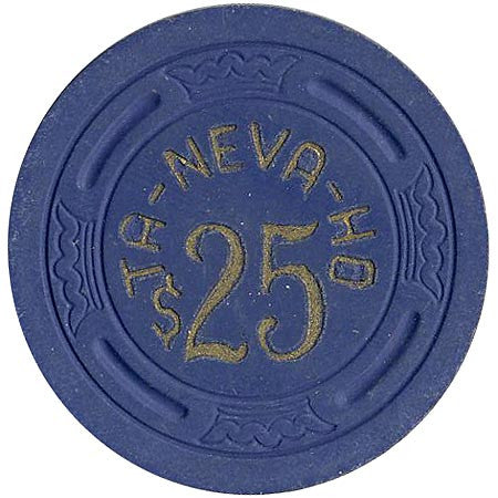 Ta-Neva-Ho $25 (blue) chip - Spinettis Gaming - 1