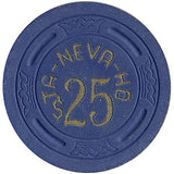 Ta-Neva-Ho $25 (blue) chip - Spinettis Gaming - 2