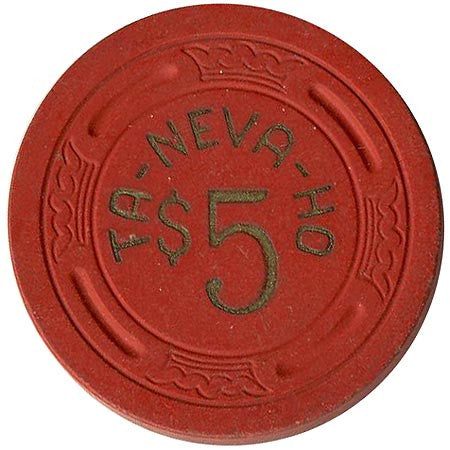 Ta-Neva-Ho $5 (red) chip - Spinettis Gaming - 1