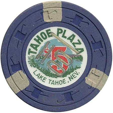 Tahoe Plaza $5 (cancel) (blue) chip
