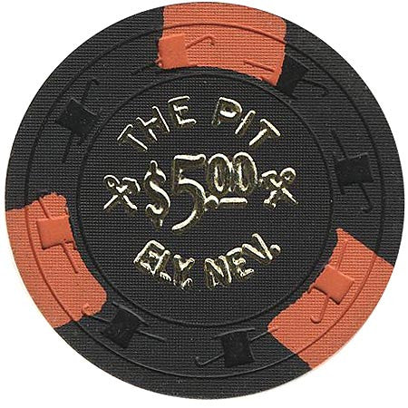 The Pit $5 (black) chip - Spinettis Gaming - 1