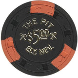 The Pit $5 (black) chip - Spinettis Gaming - 2