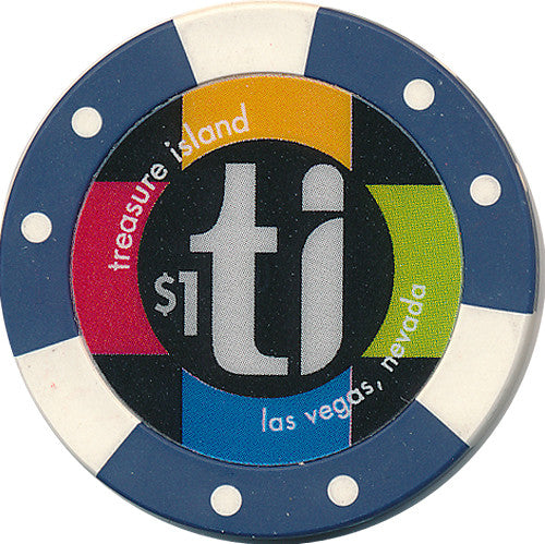 Treasure Island, Las Vegas NV $1 Casino Chip - Spinettis Gaming