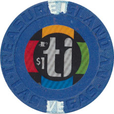 Treasure Island, Las Vegas Nevada $1 Casino Chip 2003 Small Inlay