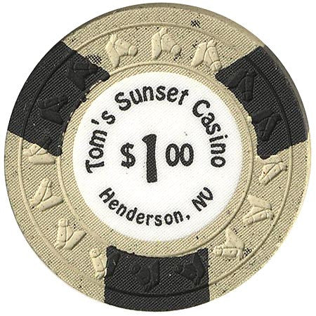 Tom's Sunset Casino $1 (beige) (HHR Mold) chip