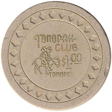 Tonopah Club $1 (gray) chip