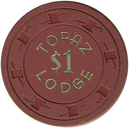 Topaz Lodge $1 (dk. brown) chip