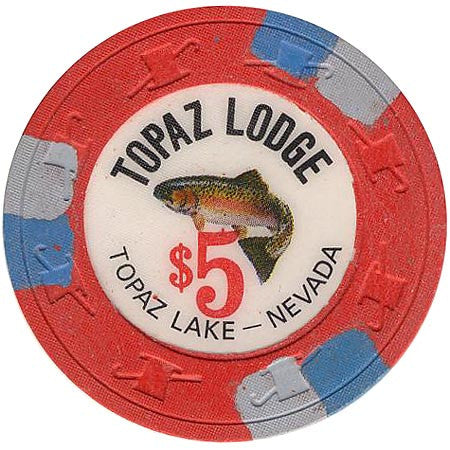 Topaz Lodge $5 (red) chip