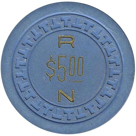 "Town House Casino Reno NV $5 ""Roy Nelson"" Chip 1951"