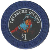 Treasure Island Casino Las Vegas $1 chip 1993 - Spinettis Gaming - 2