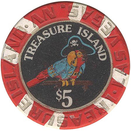 Treasure Island $5 (red) chip