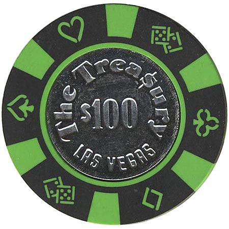 The Treasury Las Vegas $100 (black) chip