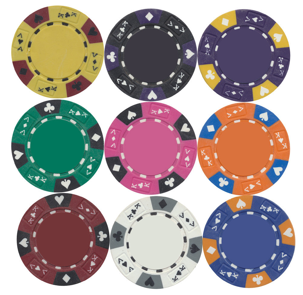 Tri-Color 14g Ace / King Pro Poker Chips