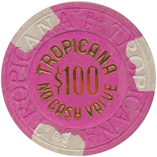 Tropicana $100 (No Cash Value) (House Mold) Chip