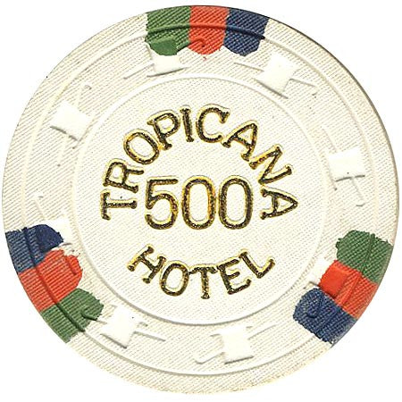 Tropicana 500 (white) chip