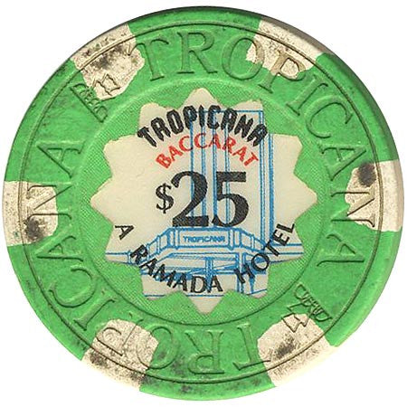 Tropicana $25 green (6-white inserts) chip