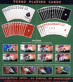 100% Plastic Playing Cards Turbo Deck Setup Red & Blue - Spinettis Gaming - 11