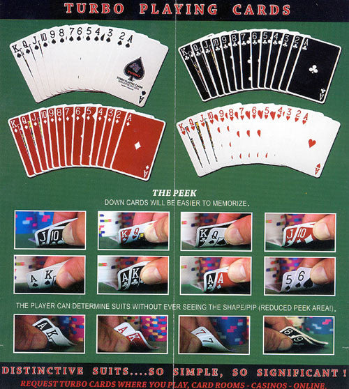 100% Plastic Playing Cards Turbo Deck Brown & Green Setup - Spinettis Gaming - 7