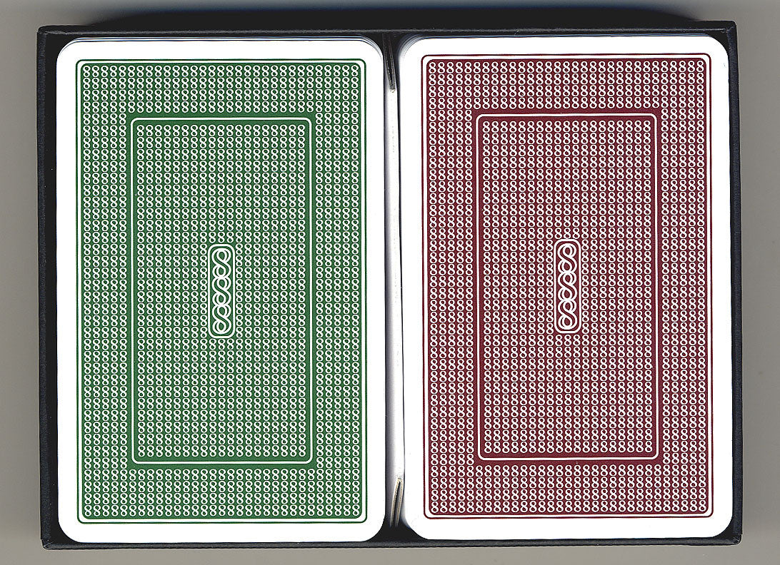 100% Plastic Playing Cards Turbo Deck Brown & Green Setup - Spinettis Gaming - 1
