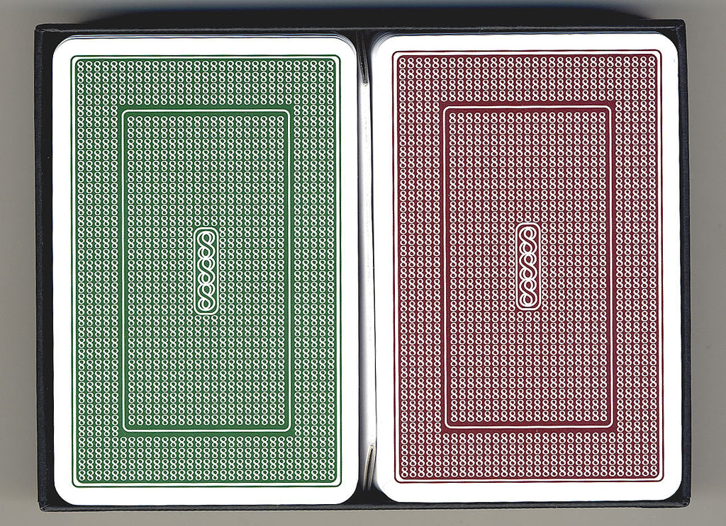 100% Plastic Playing Cards Turbo Deck Brown & Green Setup