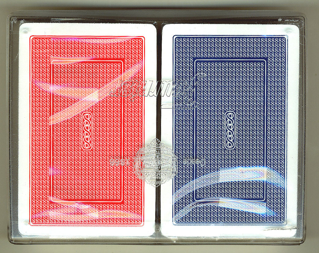100% Plastic Playing Cards Turbo Deck Setup Red & Blue - Spinettis Gaming - 1
