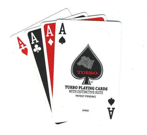 100% Plastic Playing Cards Turbo Deck Setup Red & Blue - Spinettis Gaming - 3