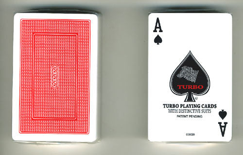 100% Plastic Playing Cards Turbo Deck Setup Red & Blue - Spinettis Gaming - 9