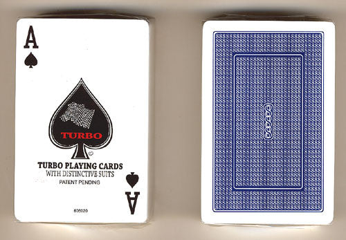 100% Plastic Playing Cards Turbo Deck Setup Red & Blue - Spinettis Gaming - 6