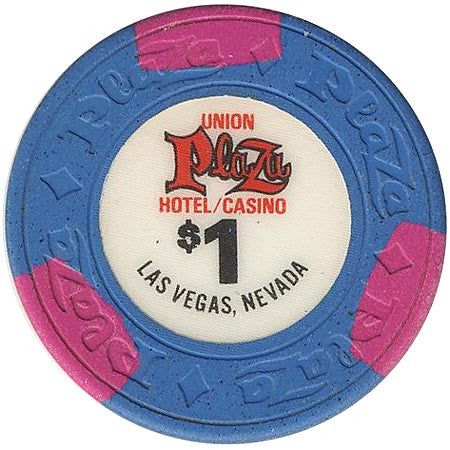 Union Plaza $1 (blue) (House Mold) chip