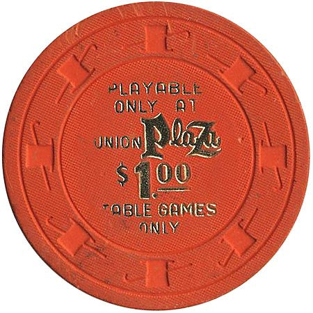 Union Plaza Casino Las Vegas NV $1 Chip 1980s