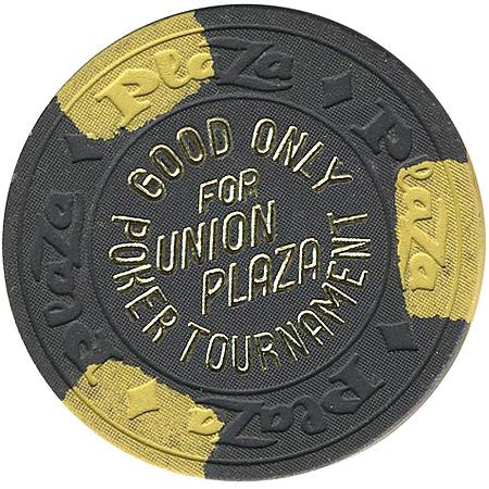 Union Plaza (NCV) (charcoal) Poker Tournament chip
