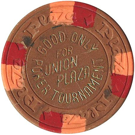 Union Plaza (NCV) (brown) Poker Tournament chip