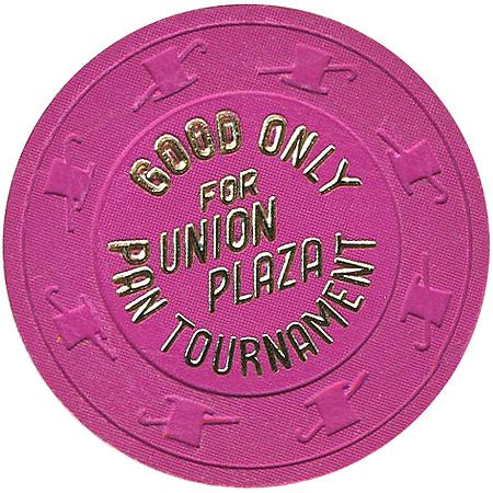 Union Plaza (NCV) (magenta) Pan Tournament chip - Spinettis Gaming - 1